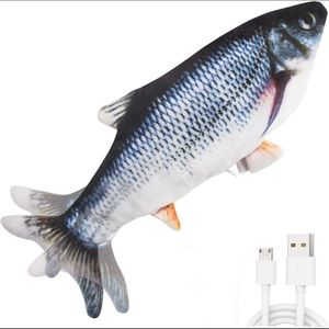 Electronic Button-Powered Realistic Cat Fish Toy